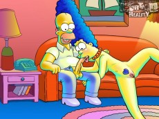 Simpsons porn party - Cartoon Reality Simpsons sex cartoon