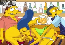 Simpsons try hardcore! - Cartoon Reality Simpsons sex cartoon