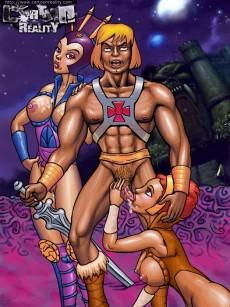 Muscled lover comics - Cartoon Reality He-Man sex cartoon
