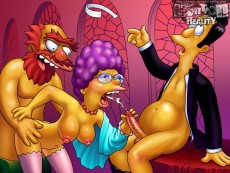 Crazy porn of Simpsons - Simpsons sex cartoon